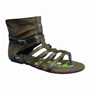 Sun Luks Printed Canvas Gladiator Sandal